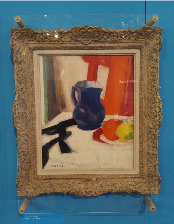 Francis Campbell Boileau Cadell (1883–1937), Blue and Orange, The Potteries Museum and Art Gallery, 2018