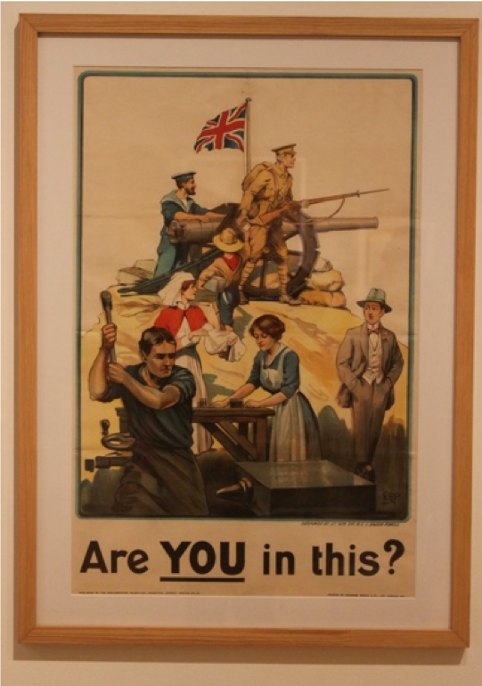 Are You In This?, Poster, 'Are You In This? Leamington Spa In The Great War' exhibition at the Leamington Spa Art Gallery and Museum.