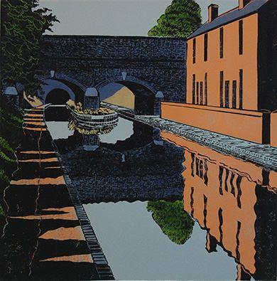 Paul Hipkiss RBSA Tividale Aqueduct, Linoprint.