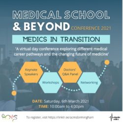 Guest Blog: Medical School and Beyond Conference 2021