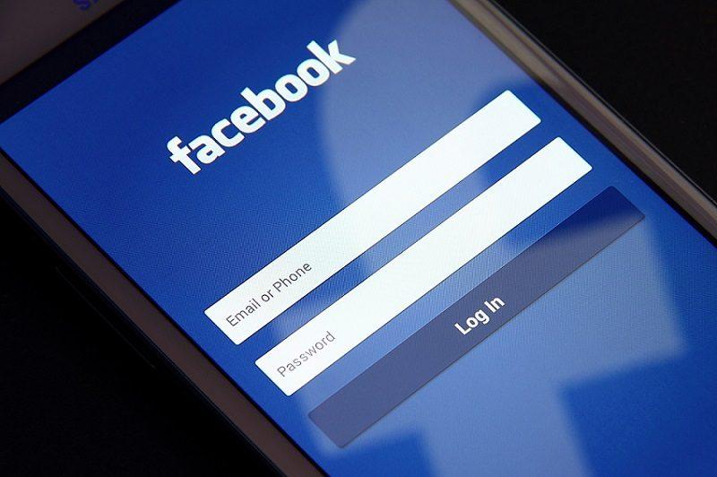 Image of a Facebook login screen