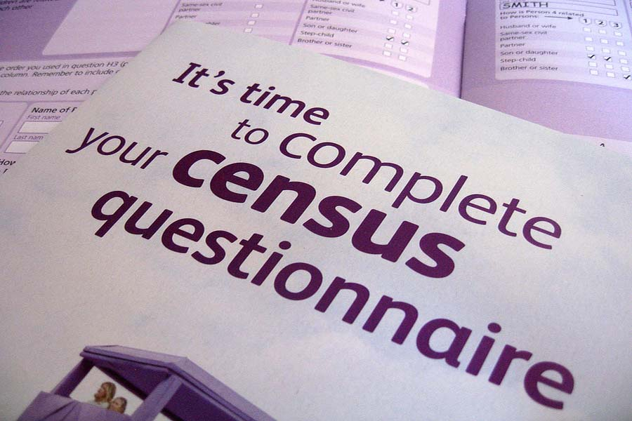 Image that says it is time to complete your census questionnaire