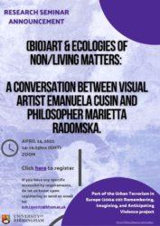 (Bio)art & ecologies of non/living matters: Video now online