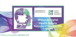 Midlands Digital Health Debate poster for event on November 4th 2020