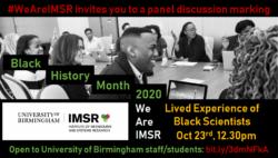 IMSR marks Black History Month 2020