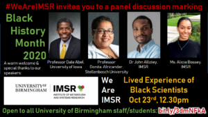 Image of panellists involved with the Black History Month Event