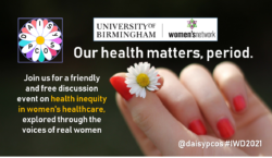 International Women's Day 2021: Our health matters, period.
