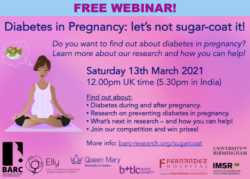 Diabetes in Pregnancy: Let's not sugar coat it! (March 13th, 2021)
